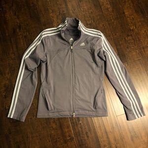 Adidas | gray zip up